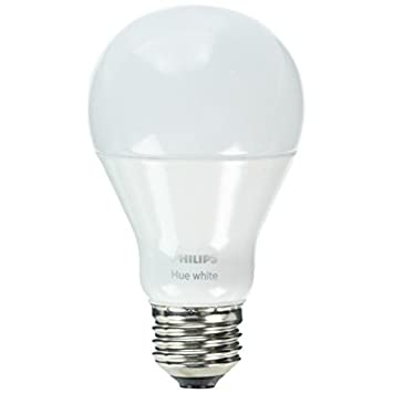 Philips Hue White A19 60W Equivalent Single LED Light Bulb, Works with Alexa, Apple HomeKit and Google Assistant, All US Residents