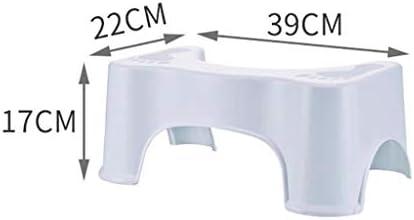 しゃがんだ便器滑り止めバスルームステップアップスツール便秘、鼓腸を和らげるコロンをより早く、より簡単に救済する健康的な結果のための適切なトイレの姿勢 (Color : 白)