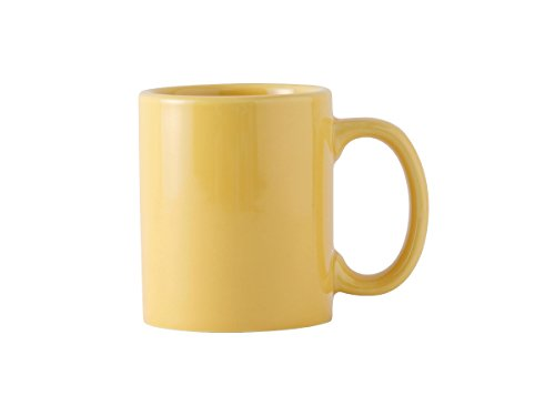 Tuxton BSM-1202 Vitrified China C-Handle, Mug, 12 oz, Saffron (Pack of 24), Oven-Microwave-Pressure Cooker Safe; Freezer to Oven Safe (Saffron Mug)