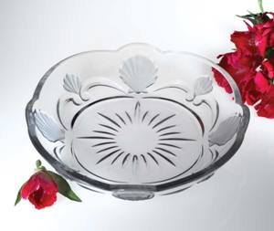 ROYAL SHELL ROUND PLATE - ROYAL SHELL ROUND CRYSTAL PLATTER