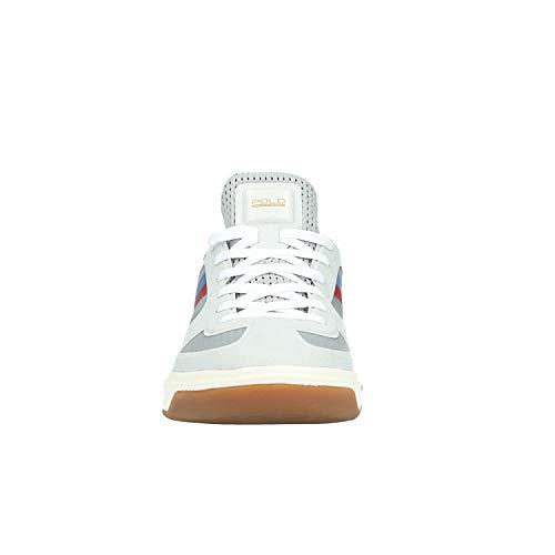 Lauren Pour Baskets 004 Ralph 809 Man Blanc 711474 ZEqBUdB