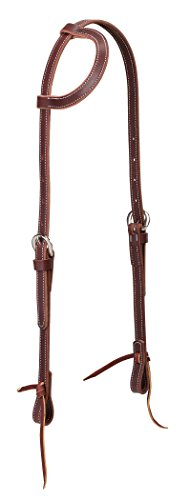 Headstall Tie Ends - Weaver Leather Latigo Leather Flat Sliding Ear Headstall