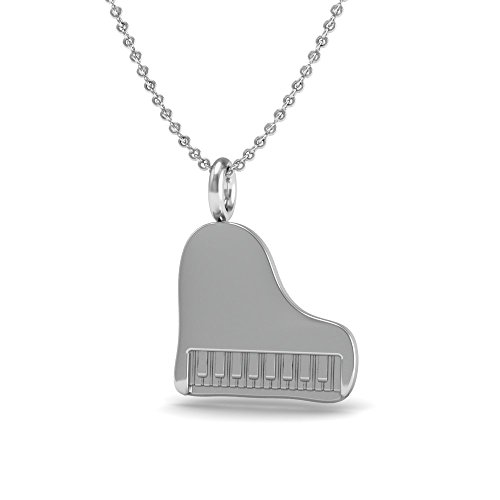 The Best Piano Pendant Necklace, .925 Sterling Silver 18 Inch Necklace with a Piano Charm Pendant