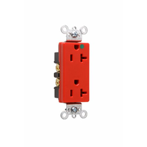 Legrand-Pass & Seymour 26362HGRED HD Hospital Grade Receptacle, 20A, 125V, Red