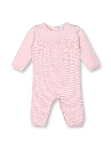 le top Bebe Cuddle Up Baby Girl Sweater Knit Jumpsuit Onesie-NB (Le Top Velour Overalls)
