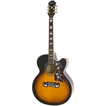 Epiphone EJ-200SCE Solid Top Cutaway Acoustic /Electric Guitar, Vintage Sunburst