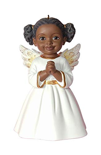 african american christmas ornaments angel prayer white - African American Christmas Decorations