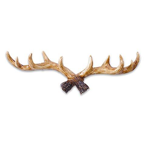 HaloVa Wall Hook, Vintage Deer Antlers Resin Wall Hanger, Easy Installing Quality Decorative Hanger Rack, Perfect for Livingroom Bedroom Cloth Shop Cafe, Light Color by HaloVa