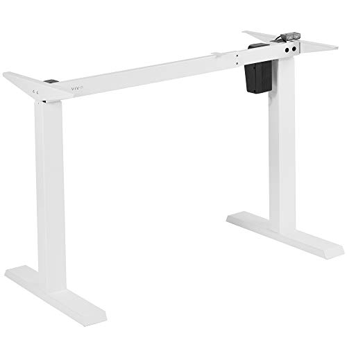 VIVO-Compact-Electric-Stand-Up-Desk-Frame-for-34-to-71-inch-Table-Tops-Single-Motor-Ergonomic-Standing-Height-Adjustable-Base-with-Simple-Controller-White-DESK-E151PW
