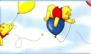 Winnie the Pooh on Balloons Border ()