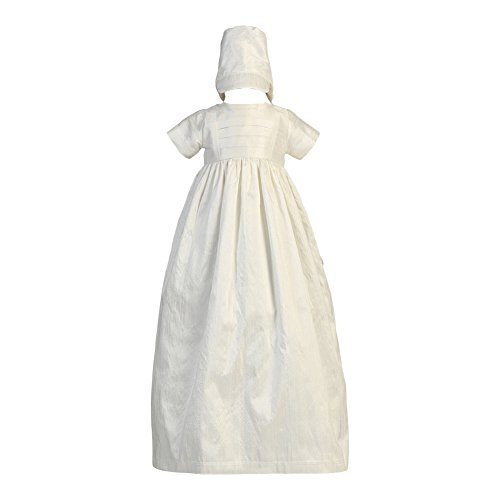(Lito Baby Girls Boys White Silk Heirloom Gown Bonnet Set Baptism Set)