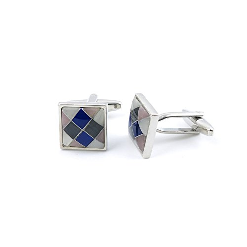 10 Pairs Men Boy Jewelry Cufflinks Cuff Links Party Favors Gift Wedding KV013 Grid Square by YAOLIHONG JEWELRY