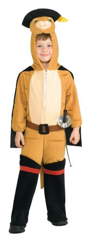 Shrek Child's Deluxe Costume, Puss 'N Boots Costume, Toddler -