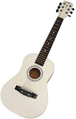 """ZZRS キッズ/ボーイズ/ガールズ/中学生/初心者のため、初心者キットで、クラシックギター、6弦アコースティックギター、異なるサイズのギター(30「34」、36"""" ) (Color : White)"""