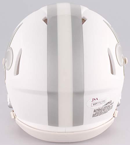 Alvin Kamara New Orleans Saints Signed Autograph Ice Speed Mini Helmet JSA Witnessed Certified