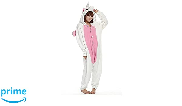 Kigurumi Pijamas Unisexo Adulto Traje Disfraz Adulto Animal Pyjamas (L, Unicorn Pink): Amazon.es: Ropa y accesorios