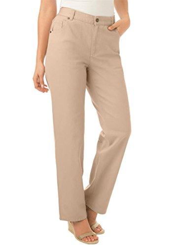 Women's Plus Size Petite Side Elastic 100 Cotton Jean New...