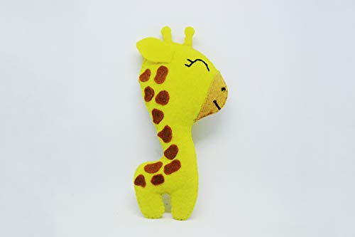 Felt Giraffe Toy Giraffe Ornaments Decorations Giraffe Toys For Kids Felt Africa Gift Felt Animals Felt Gifts Safari Toy Gift For Kids