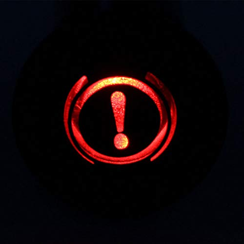 uxcell Signal Indicator Light DC 12V 8mm Red LED Aluminum Shell with Symbol ECU
