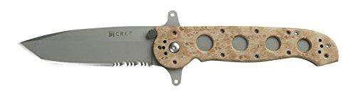 CRKT M16-14ZSFC Folding Pocket Knife: Retail Package, Serrated Edge Blade, Tanto, Automated Liner Safety, Dual Hilt, Desert Nylon Handle, 4-Position Pocket Clip (Zytel Handle Desert)