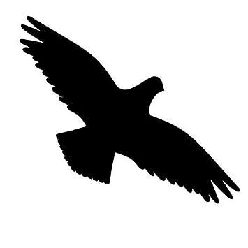 Greenit 4 Stück Vogel Schwarz Jeweils 30cm Aufkleber Tattoo Warnvögel Fenster Schutz Deko Folie
