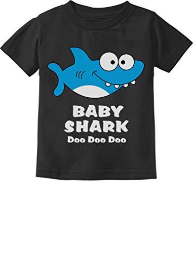 Baby Shark Song Doo doo doo Family Dance for Boy Girl Infant Kids T-Shirt 6M Black