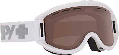 Spy Optic Getaway 313162632069 Snow Goggles, One Size (White Frame/Bronze Lens)