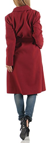Manteau Veste Cascade long Design Size Bordeaux One Cardigan 3050 malito Femme SxnHwa