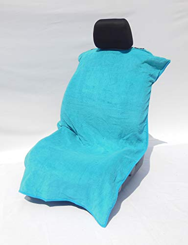 Koala Seat - 100% Cotton Koala Seat Towel - A Universal Seat Cover That Will Work in the Car and Truck, or At the Beach! (Scuba Blue)