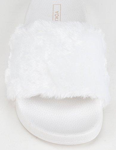 Yoki Womens Riri Slipper Bianco