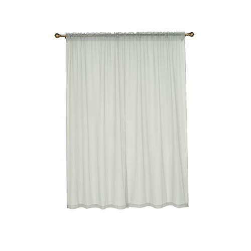 BalsaCircle 52 x 96-Inch Silver Sheer Organza Backdrop Window Drapes Curtains 2 Panels - Wedding Ceremony Home Decorations