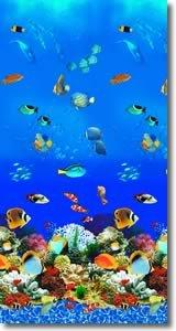 (Swimline Caribbean Tile Round Overlap Pool Liner Size: 18' W x 48