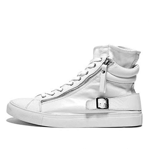 Tebapi Mens Backpacking Boots Real Leather Fashion Casual Footwear White Black Male Hightop High Top Boot Trainers Shoe Men Bai 11
