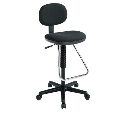 Economical Drafting Chair with Chrome Teardorp Footrest and Grade A Festival Pattern Fabric, Light - Dc430 Economical Chair