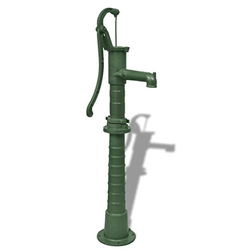 vidaXL Hand Pump w/Stand Cast Iron Well Water Pitcher Press Yard Pond Garden
