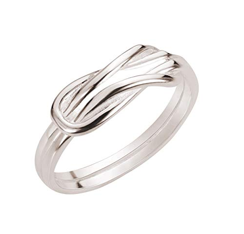 CloseoutWarehouse Sterling Silver Infinity Promise Knot Ring Size 9