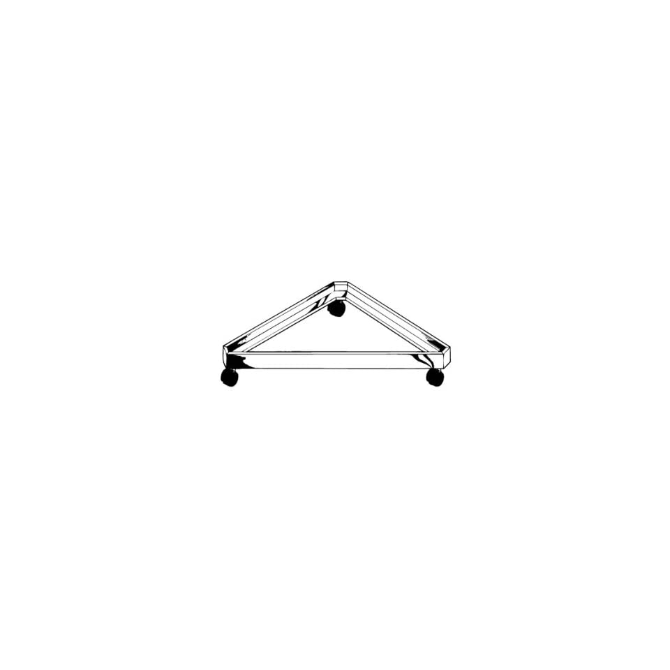 Gridwall Triangle Base for Grid Panels with Casters   Use for Stores and Trade Shows   Chrome Color