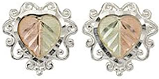product image for Black Hills Gold Heart Earrings in Sterling Silver from Coleman