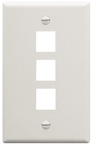 yan_ICC 3-Port Faceplate/Wall Plate, White - 3 Port Ic107f03wh