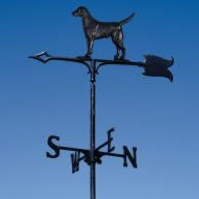 Whitehall Black Lab - Black Lab Weathervane Garden Color