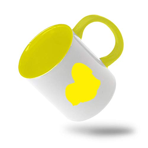 Style In Print Yellow Lhasa Apso Silhouette Ceramic Cup Colored Mug - Yellow -