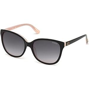 Guess GU7546 Sunglasses - Shiny Black Frame, Gradient Smoke Lenses, 56 mm Lens GU75465601B
