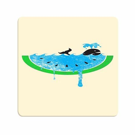 Unique Designer Humor Whale In Watermelon Not Fade Off Mousepad For Friends ()