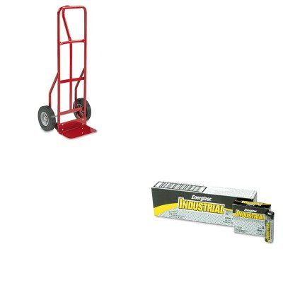 KITEVEEN91SAF4084R - Value Kit - Safco Two-Wheel Steel Hand Truck (SAF4084R) and Energizer Industrial Alkaline Batteries (EVEEN91)