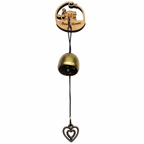 GARASANI Zinc, Steel Bell - Door Bell, Doorbell for Decoration, Front Door, Interior, Exterior Decor, Gold (Pig)