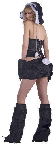 Forum Novelties Women's Furry Favorites Pleasing Panda Costume, Black/White, Medium/Large (Sexy Panda Costume)
