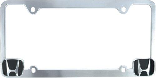 chrome honda license plate - 4