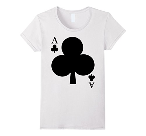 A Deck Of Cards Costume - Womens Deck Of Cards Halloween Costume Ace Of Clubs Matching Friend Medium White
