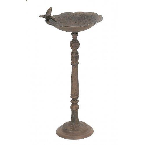315otw4qaIL - Cast Iron Birdbath Adorned with Hummingbird