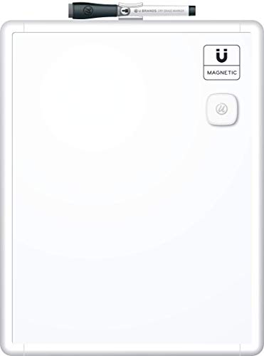 U Brands Contempo Magnetic Dry Erase Board, 11 x 14 Inches, White Frame ()